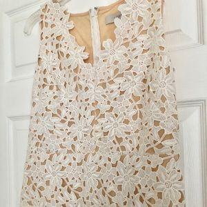 LOFT Dresses - LOFT white lace sheath vneck dress 4